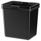 ВАРЬЕРА Контейнер д/сортировки мусора, черный, 18 л