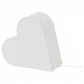 СТРОЛА Украшение для стола, сердце, белый, 30 см