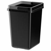 ВАРЬЕРА Контейнер д/сортировки мусора, черный, 11 л
