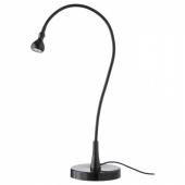 ЯНШО Рабочая лампа, светодиодная, черный, 60 см