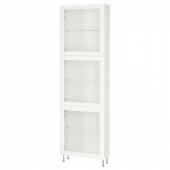БЕСТО Комбинация д/хранения+стекл дверц, белый, глассвик/сталларп белый прозрачное стекло, 60x22x202 см